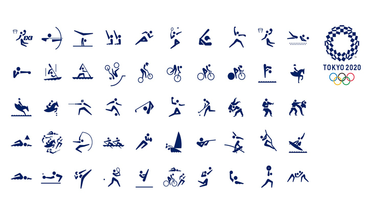 Juegos Olimpicos: Hermandad a través del deporte Pictogramas