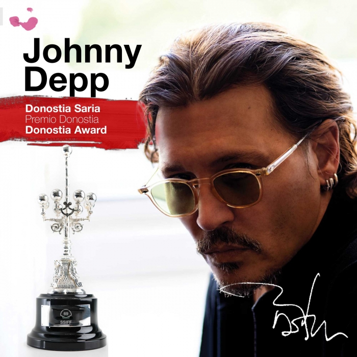 Johnny Depp y su premio Donostia